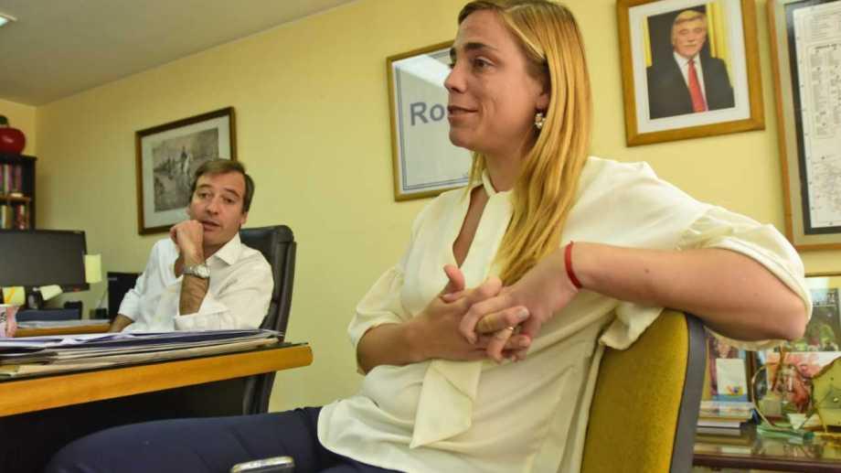 Martín y María Emilia Soria furiosos con los pocos fondos asignados por la provincia para obras para el próximo año. Archivo