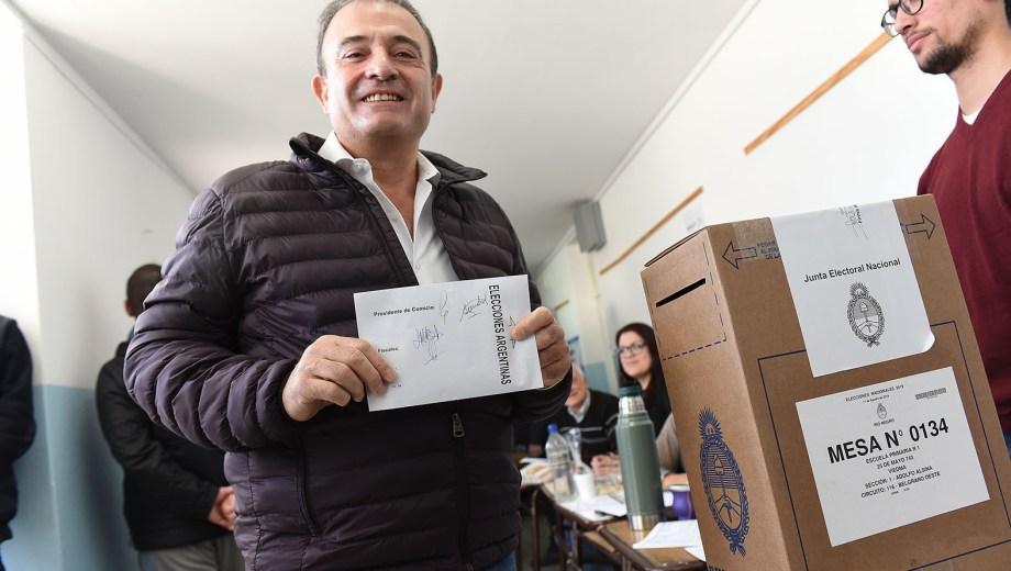 Pesatti durante las PASO declaró que ya definió la fórmula de cara a las elecciones de Viedma. Foto: Mauricio Martin.