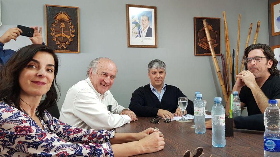 Di Fonzo junto al candidato a senador Oscar Parrilli. Foto: gentileza