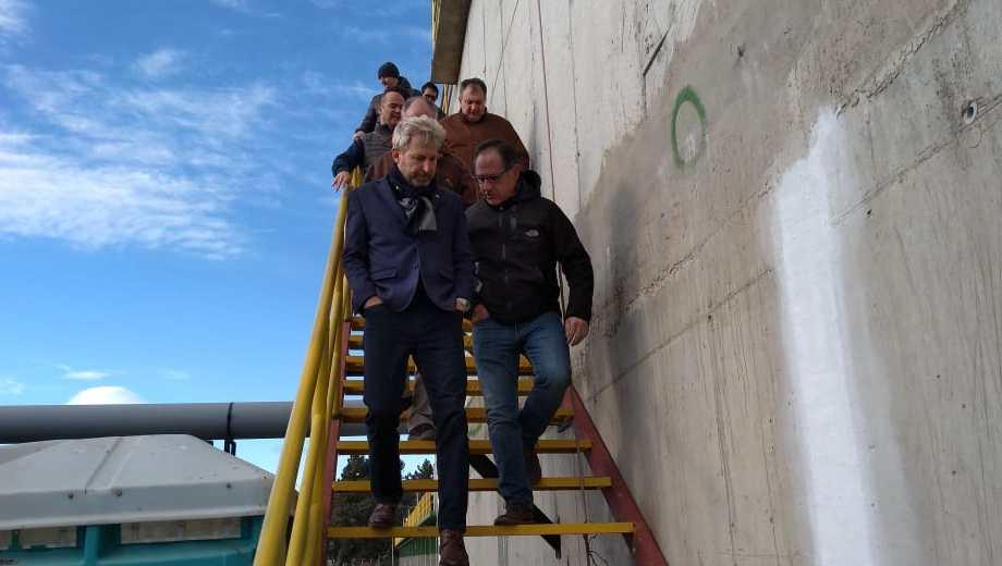 Junto al diputado Sergio Wisky