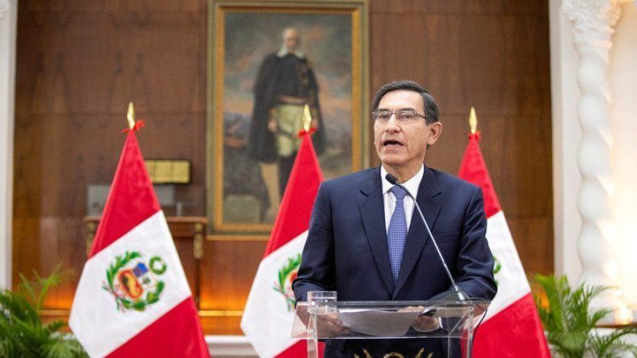 Martín Vizcarra, presidente de Perú fue acusado durante una puja con el Congreso por la reforma política. (Archivo).-