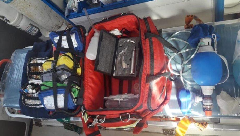 La ambulancia quedó fuera de servicio sin los instrumentos. (Foto: Gentileza.-)