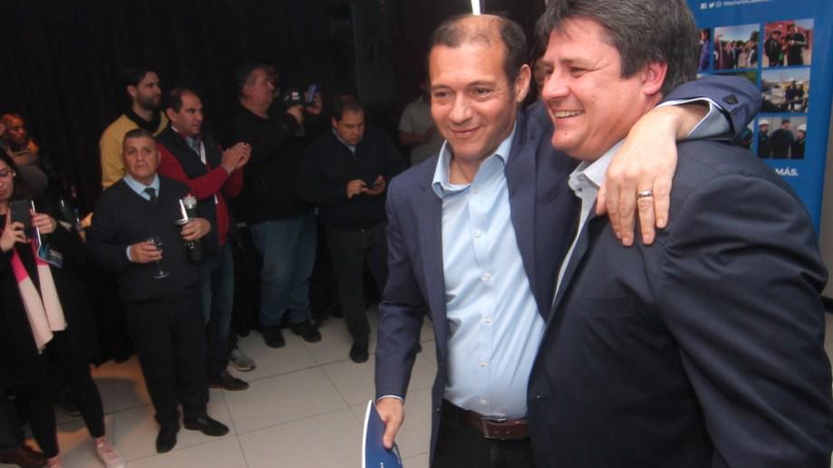 El gobernador y el ministro presentaron en conjunto el plan de acción para recuperar la capital en manos del MPN. Foto Oscar Livera