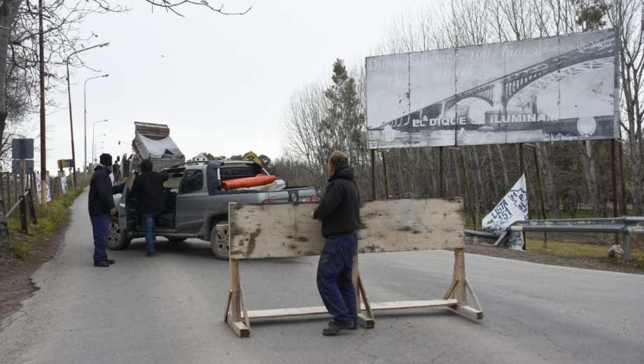 El dique Ballester permanecerá cortado durante 60 días. (Juan Thomes).-