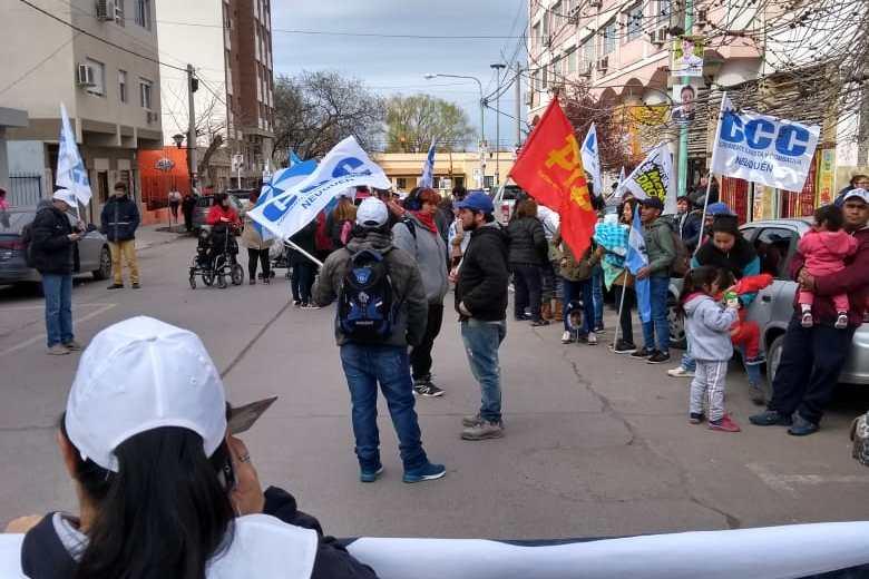 Protesta de la CCC frente al ANSES. Gentileza