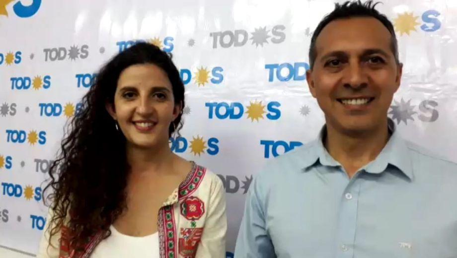 Marcelo Zúñiga y Ana Servidio celebraron consagrase como cuarta fuerza en Neuquén