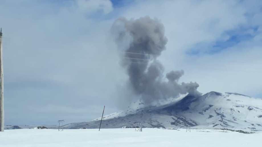 El volcán Copahue. Foto: Gentileza
