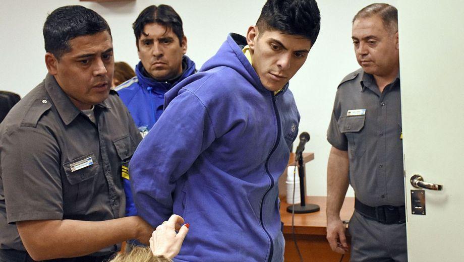 Alfredo Escobar, durante la audiencia de formulación de cargos por el femicidio de Cielo López. Foto: Flor Salto.