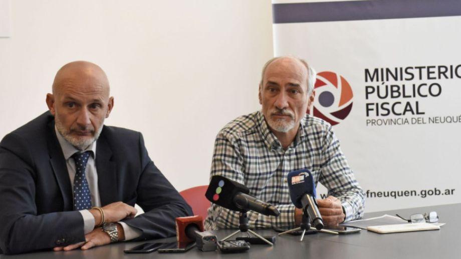 El fiscal jefe Pablo Vignaroli y el mediador Ulf Nordenstahl dieron detalles de la solución a la que arribaron entre las partes. Foto: Florencia Salto