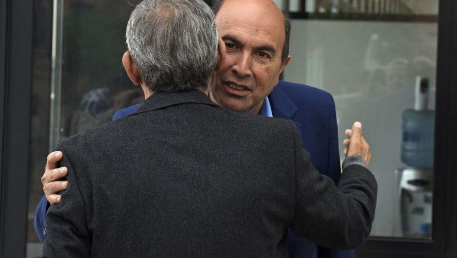 El candidato junto al intendente Horacio Quiroga.