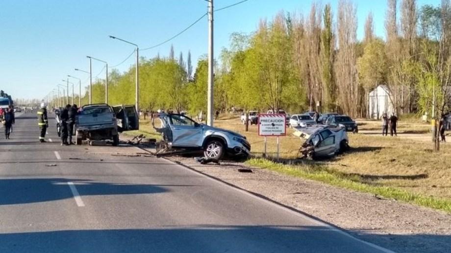 El accidente ocurrió ayer en la ruta provincial 34, en el acceso a 25 de Mayo. (Foto: gentileza diariotextual.com)