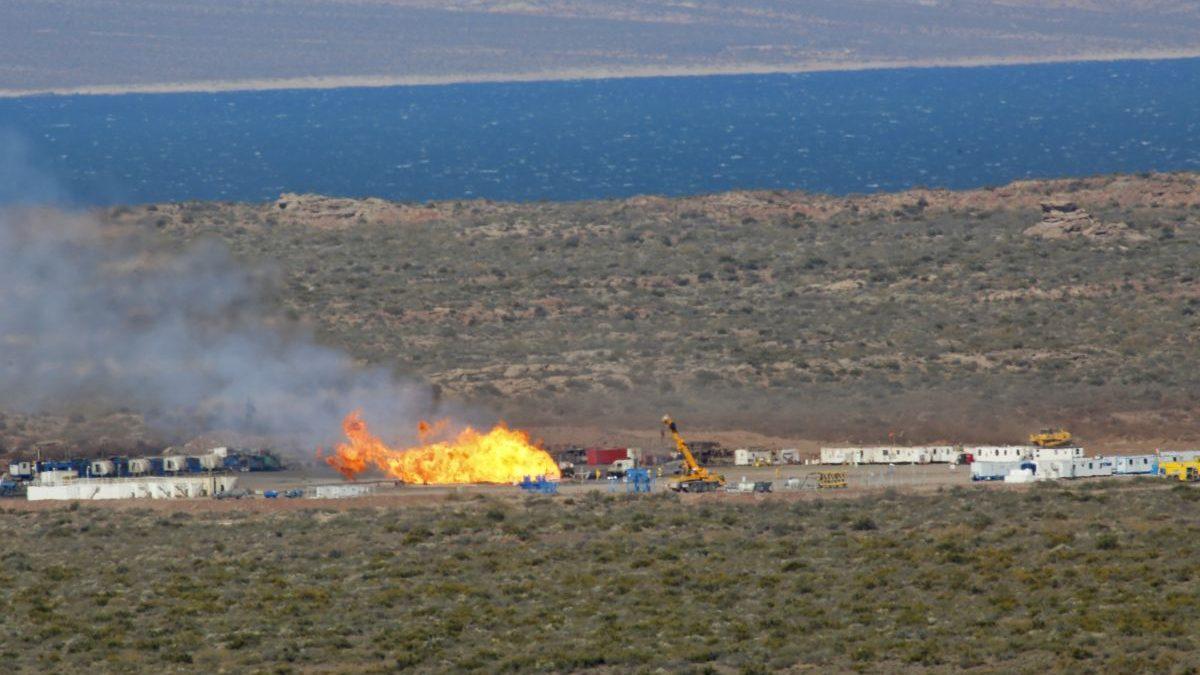 Resultado de imagen para Incendio en Vaca Muerta