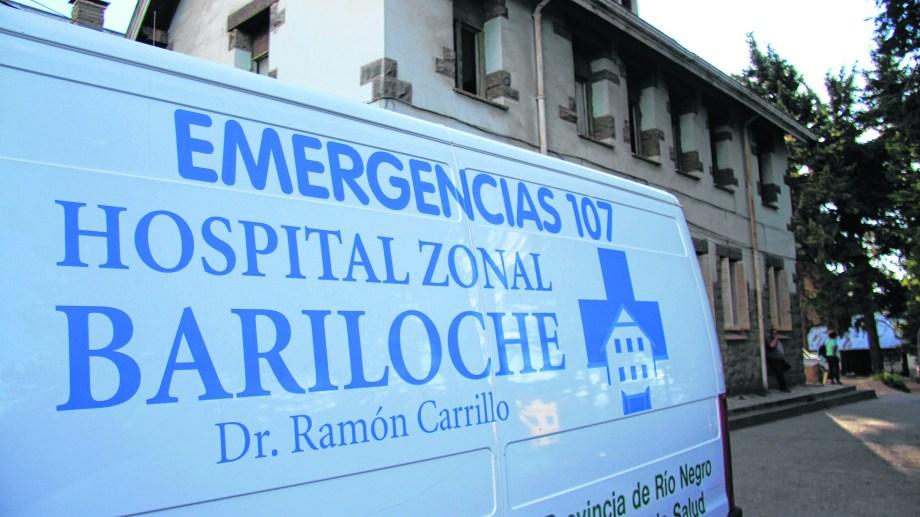 El conductor fue trasladado al hospital de Bariloche. Foto: archivo