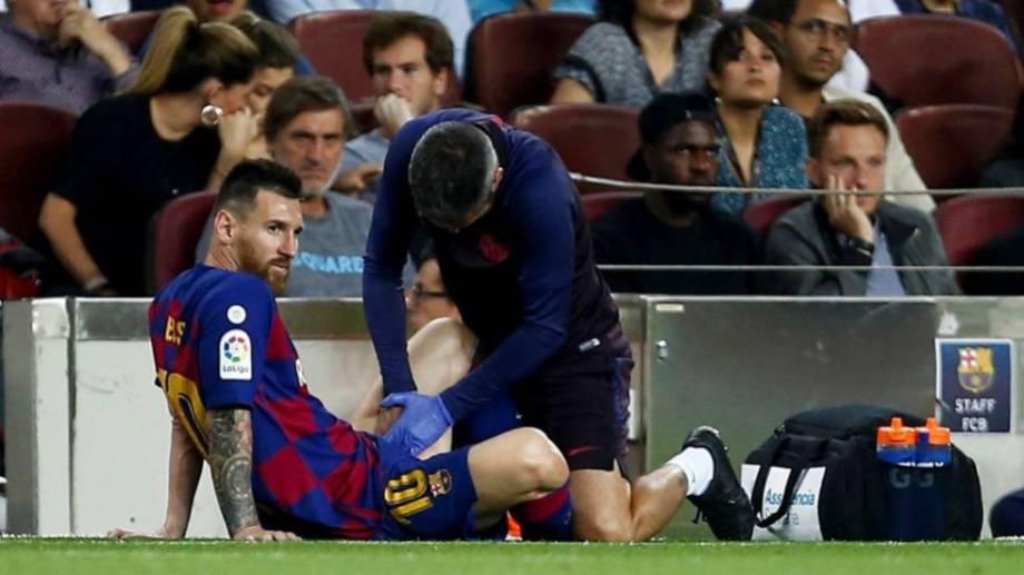 Lio debió ser sustituido en el entretiempo contra el Villarreal.