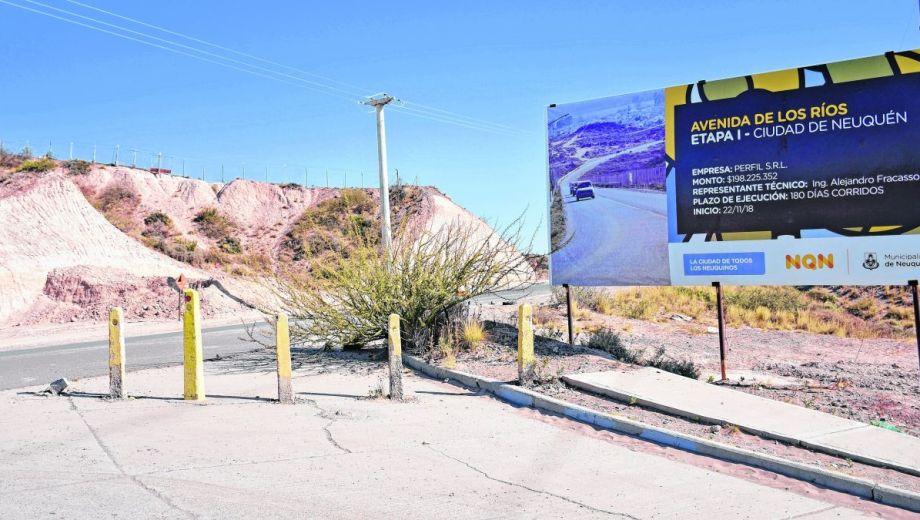 La avenida que unirá el centro de la ciudad con el río Neuquén es uno de los proyectos que le quedará para ejecutar a