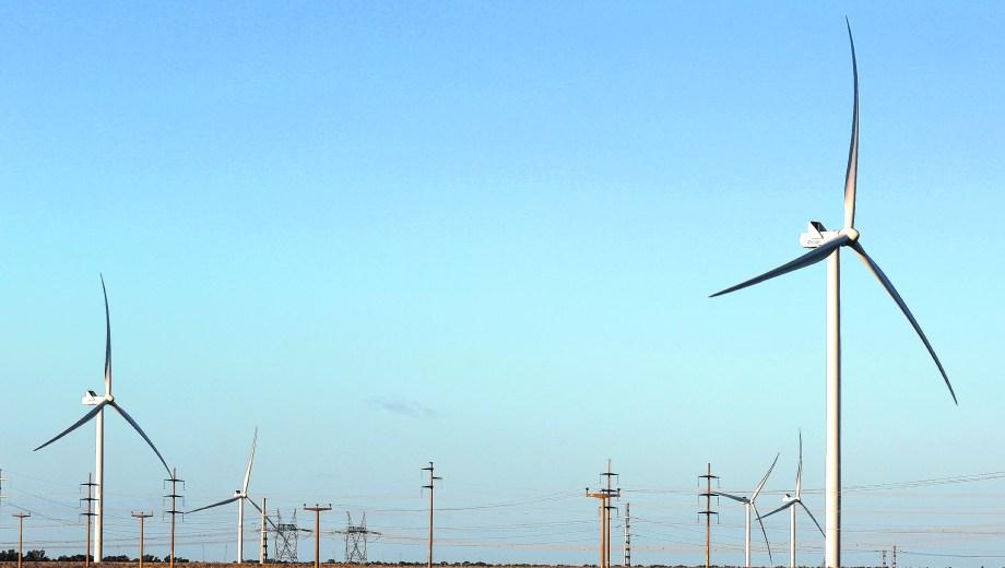 El Parque Eólico Pampa II de Bahía Blanca genera 53 MW.