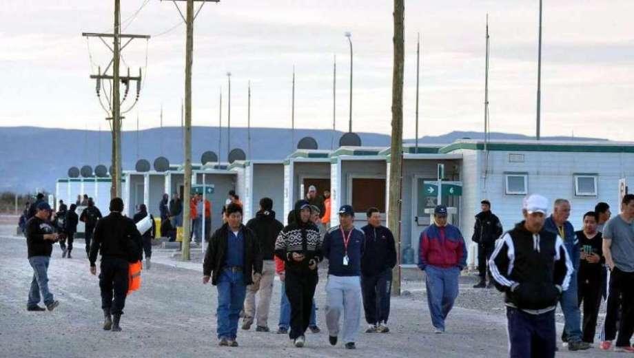 En Pata Mora la minera estableció un pueblo temporario para alojar al personal. Foto losandes.com.ar