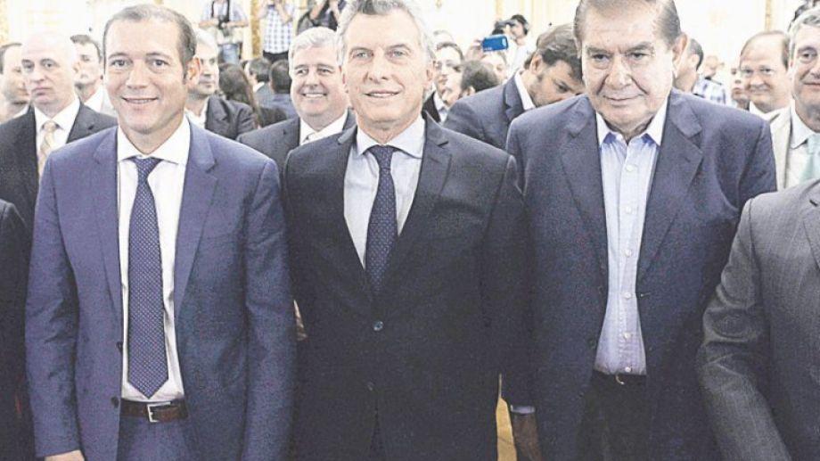 Otras épocas: Macri secundado por Gutiérrez y Pereyra. (Gentileza).-