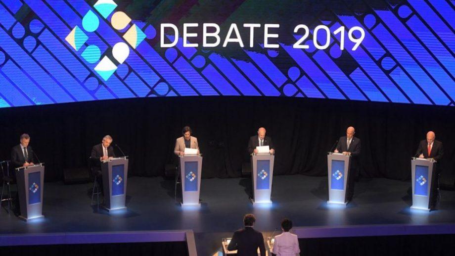 El debate en el Aula Magna de la UBA. Foto:. Julián Álvarez para Télam.