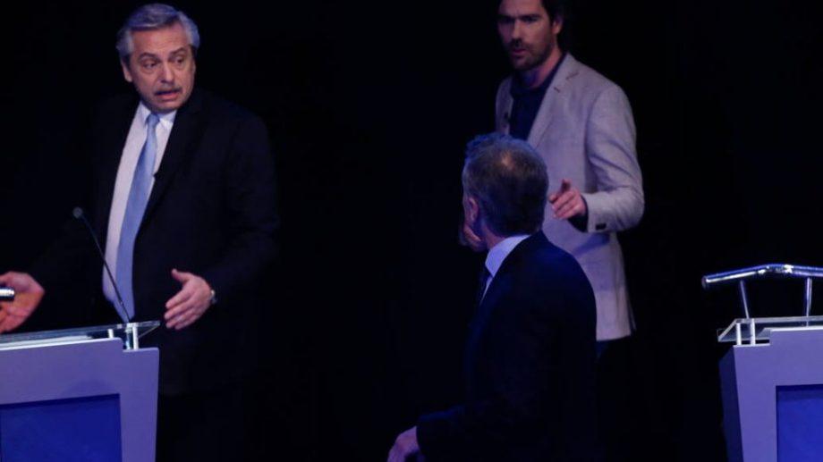 Macri le recrimina a Fernández la mención contra Franco en el eje de Empleo. (Foto: Fabián Marelli)