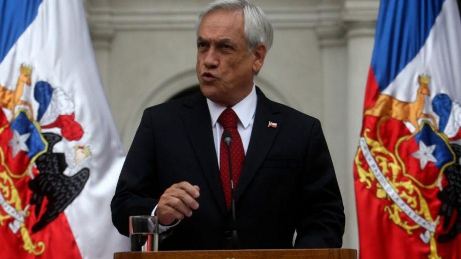 Piñera habló este lunes, tras la aplicación del toque de queda. (Foto: gentileza)