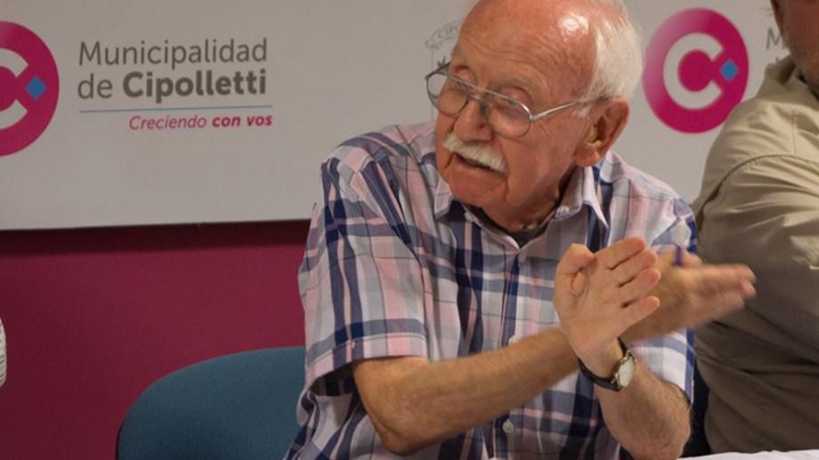 Falleció el reconocido arquitecto de Cipolletti, Aaron Fainberg. Foto: Archivo