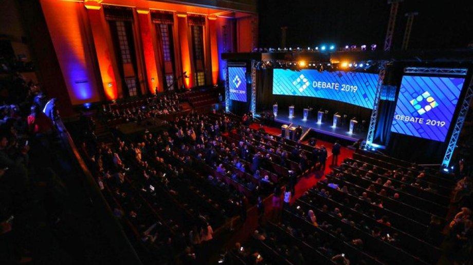 El debate se desarrolla en el Aula Magna de la UBA. (Foto: gentileza Debate Argentina)