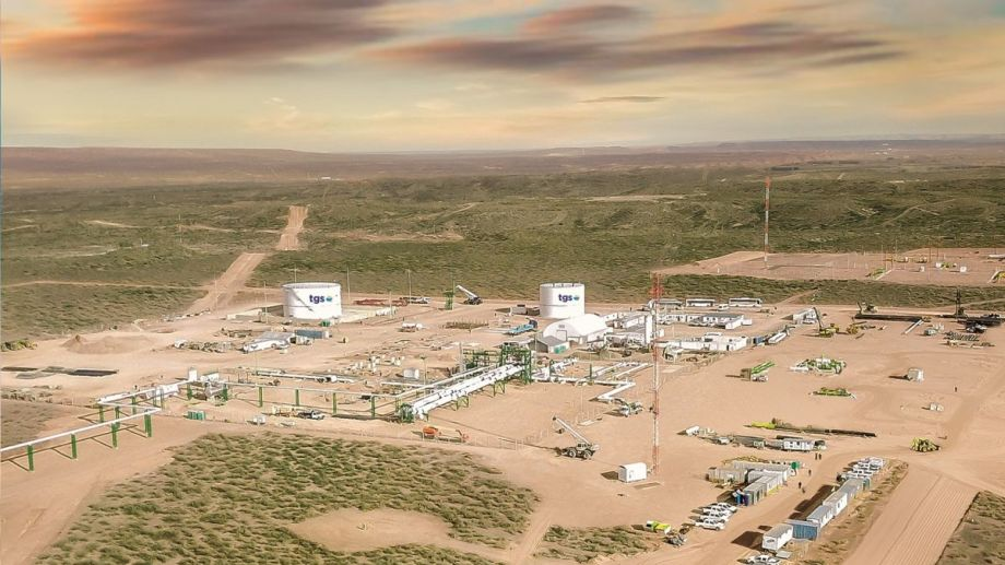 La planta de Tratayén se construyó recientemente y desde TGS ya planean ampliarla.