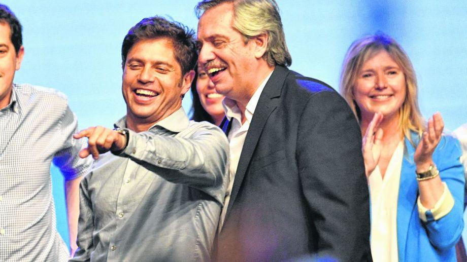 Axel Kicillof junto a Alberto Fernández.