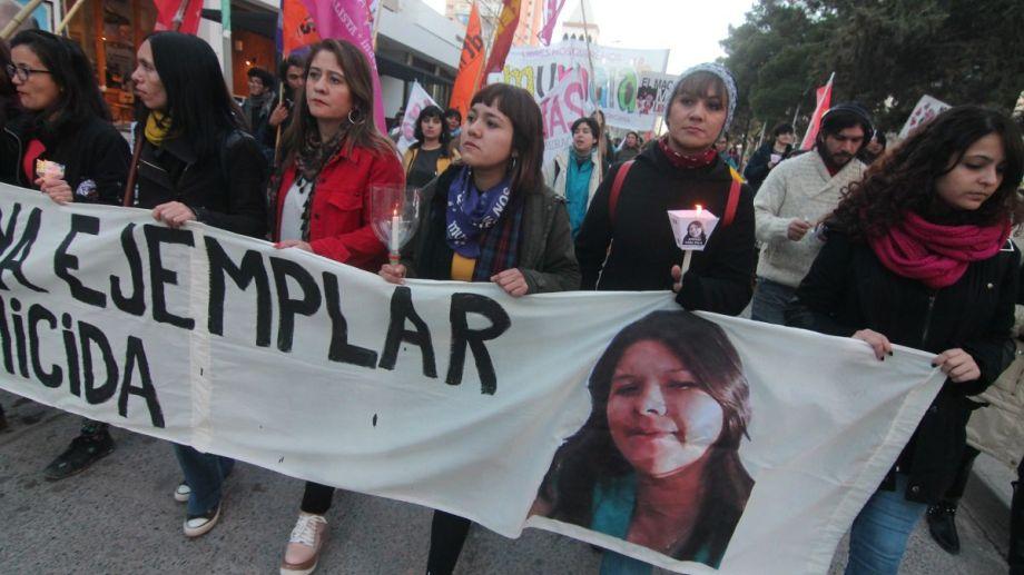 Una de las marchas para pedir justicia por el femicidio de Delia.