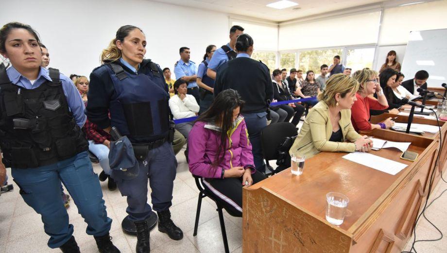 La imputada en la audiencia judicial. Foto: Fernando Ranni