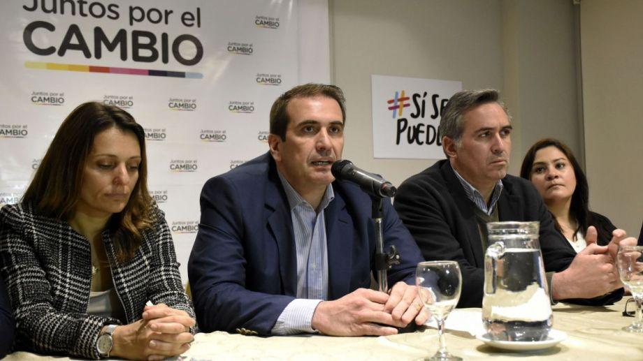 El ingeniero y empresario encabezó hoy la conferencia de prensa. Foto: Florencia Salto.