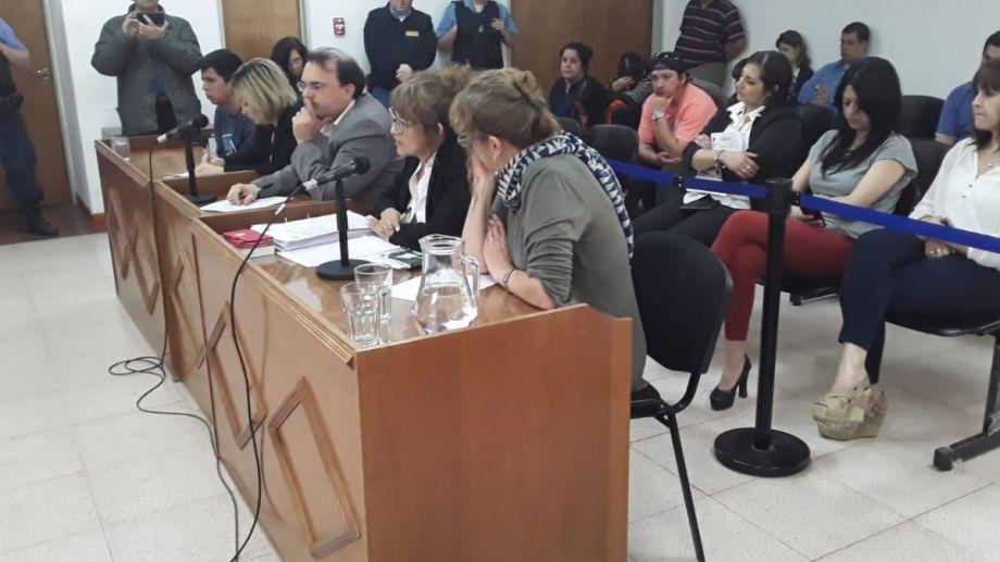 La audiencia de formulación de cargos se realizó esta tarde en la Ciudad Judicial de Cutral Co. Foto: Fernando Ranni.