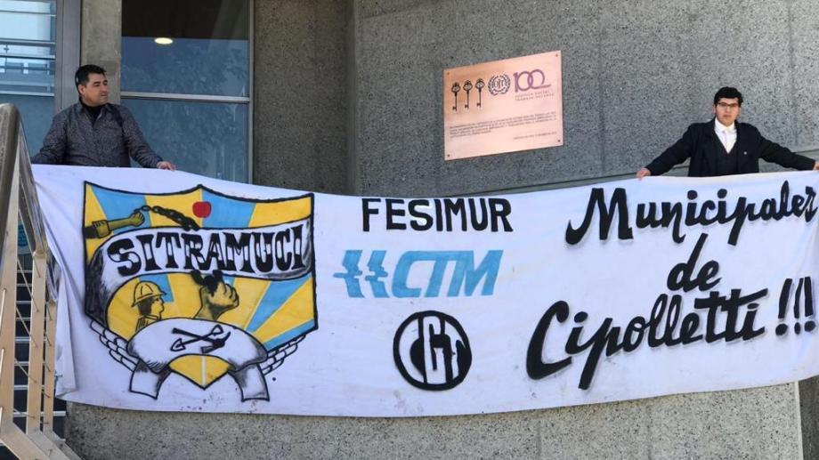 Sitramuci denuncia a Tortoriello por persecución. Foto: Gentileza
