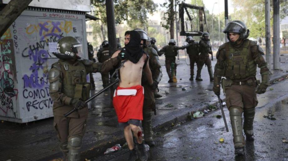 El sexto día de protestas en Chile. Foto: archivo