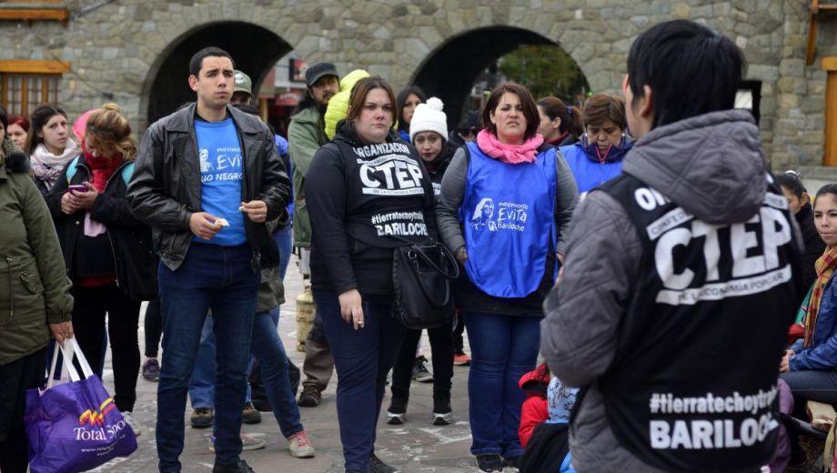 La CTEP es una de las organizaciones que impulsa la emergencia alimentaria en Bariloche. Archivo