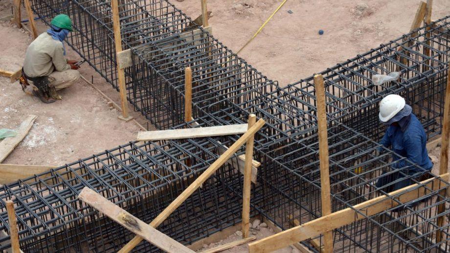 La construcción uno de los pilares del empleo privado en la provincia.  Foto: Archivo Matías Subat
