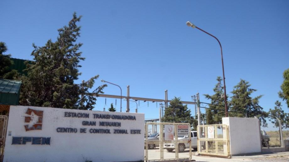 La estación transformadora Gran Neuquén habría sido el epicentro de la falla. Foto: Archivo.