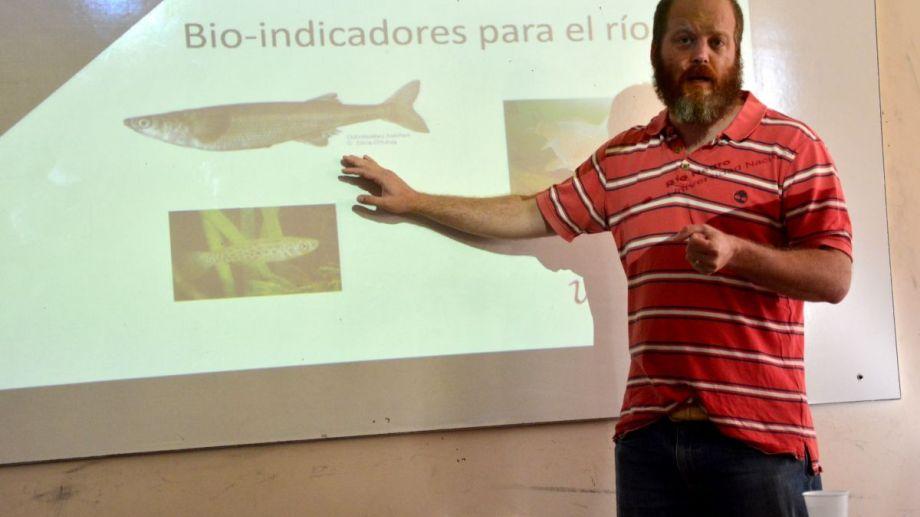 Patricio Solimano fue el responsable del trabajo sobre acuicultura. Fotos: Marcelo Ochoa.