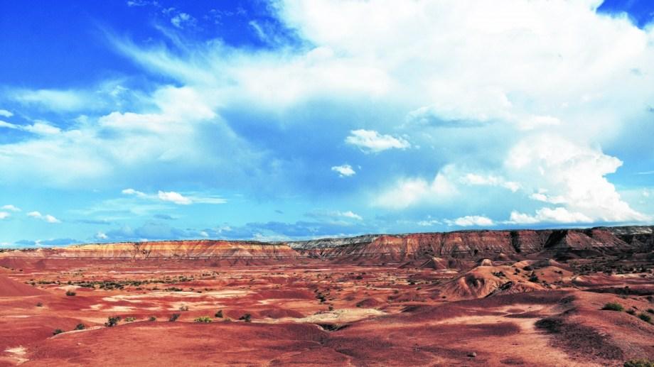 Rojo. Una maravilla que encontrás a 18 kilómetros de Roca.  (Foto Andrés Maripe)