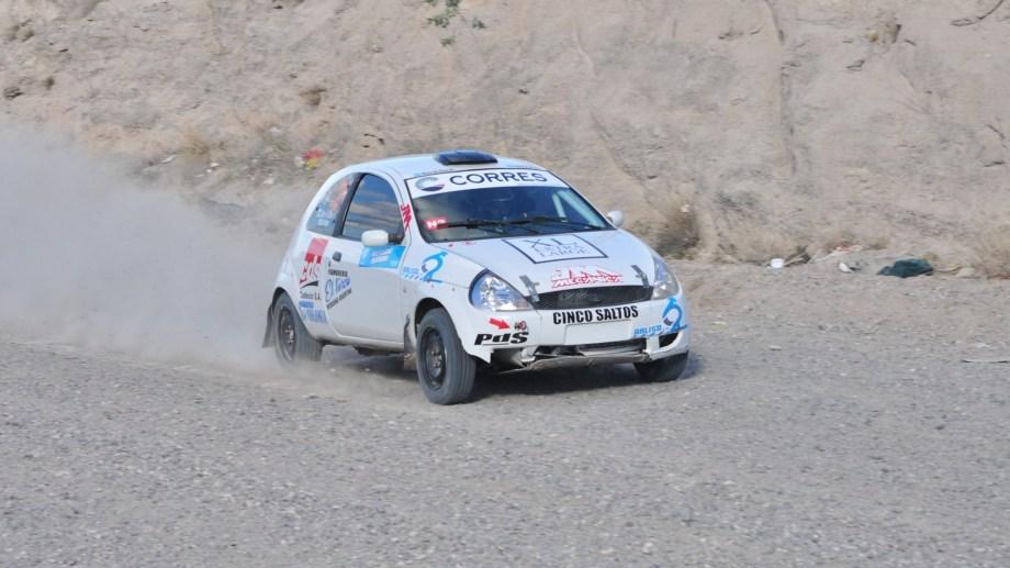 Cristian Di Clérico está adelante en el Grupo N-2 del Rally Regional. Gentileza.