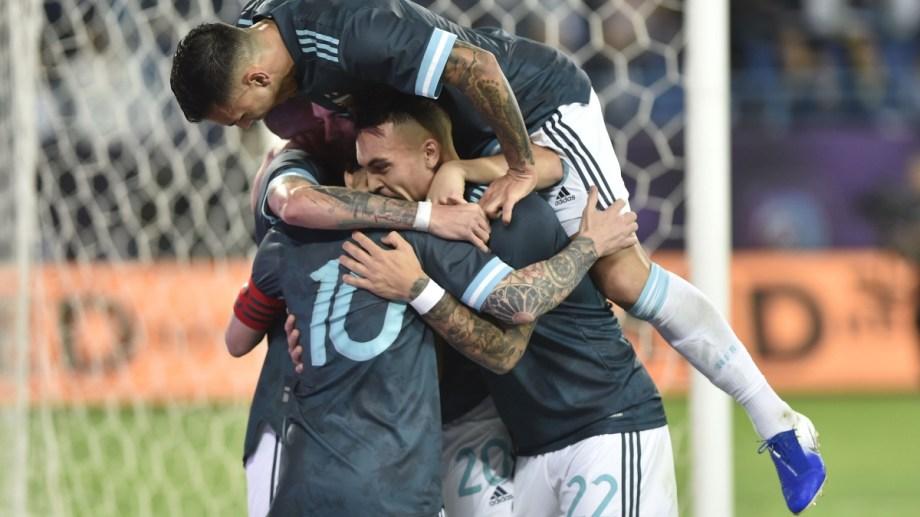 La selección dio una nueva muestra de superación ante Brasil.  (foto AP)