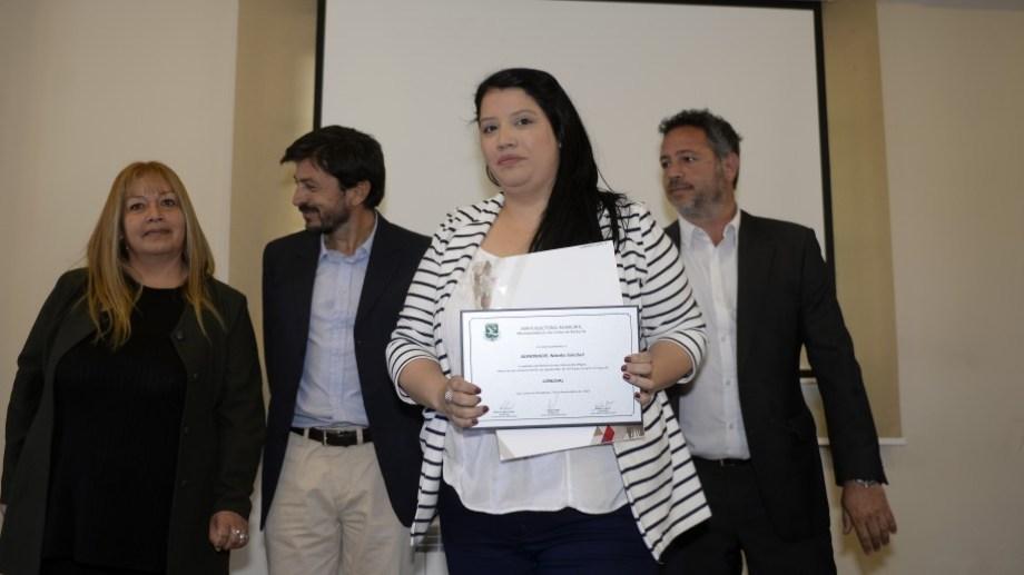 Natalia Almonacid inició su gestión como presidenta del Deliberante de Bariloche y ahora quedó a cargo de la intendencia. Archivo