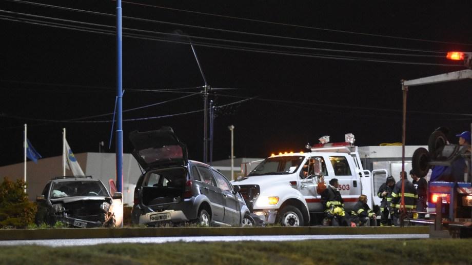 Ruta 22: un múltiple choque dejó siete heridos en el acceso de calle Mendoza. Foto: Gonzalo Maldonado