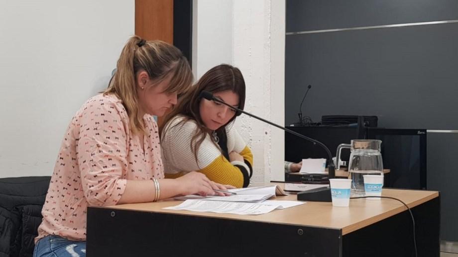 Las fiscales Guiñazú y Montenegro, durante la audiencia del viernes. Foto: Gentileza.