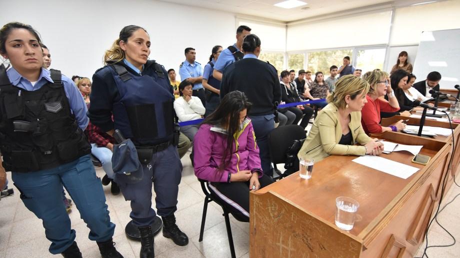 La acusada durante el desarrollo de una audiencia judicial.  Foto: Archivo
