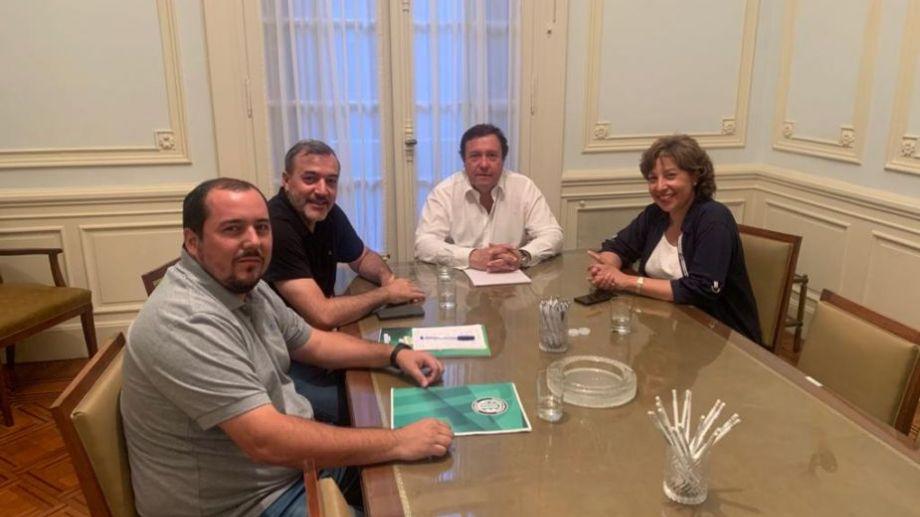 La reunión fue luego de la jura de Alberto Weretilneck, en Buenos Aires. Foto: gentileza