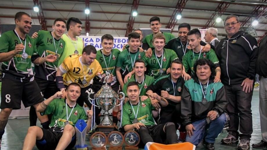 Estrella Austral de Río Grande se coronó campeón de Futsal en el torneo nacional que se disputó en Bariloche. Foto Gentileza: Natalia Ibañez