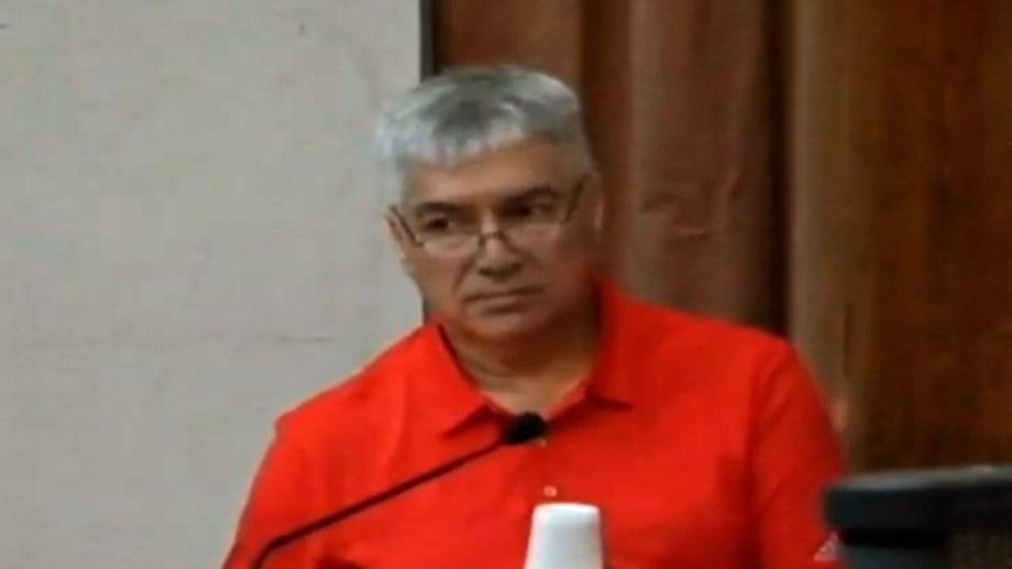 Lázaro Baez en la lectura de su declaración en el Tribunal Oral Federal 4.