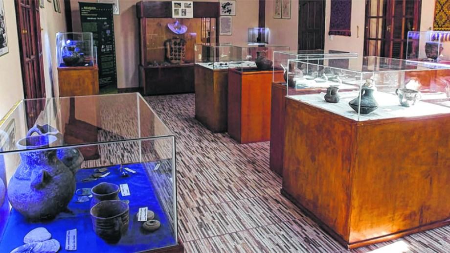 El museo de Caepe Malal tiene restos arqueológicos de un cementerio de los grupos Pehuenches.   (FOTO: Gentileza)